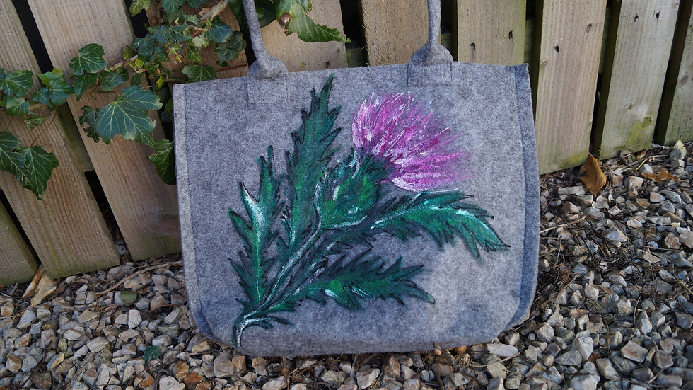 Small Felt Thistle Bag A261