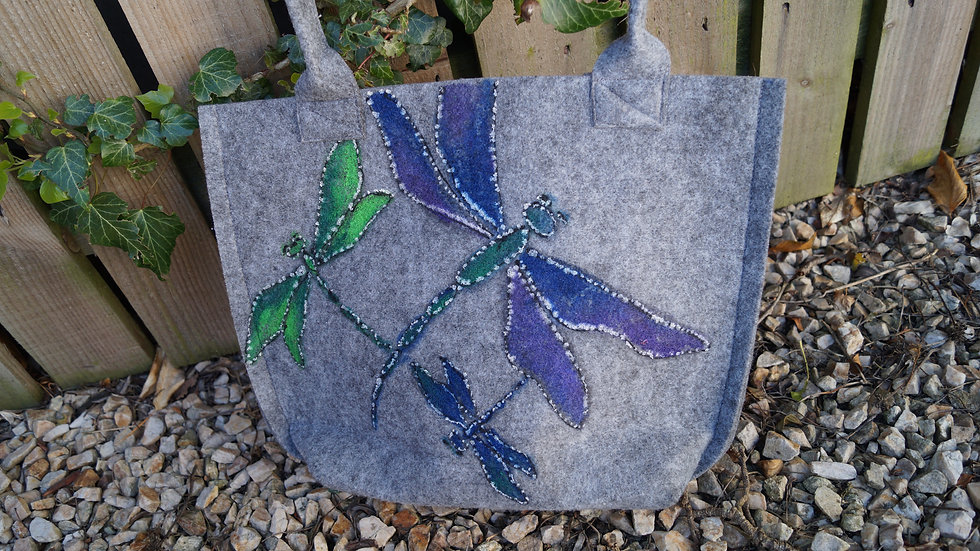 Small Felt Dragonfly Bag A264