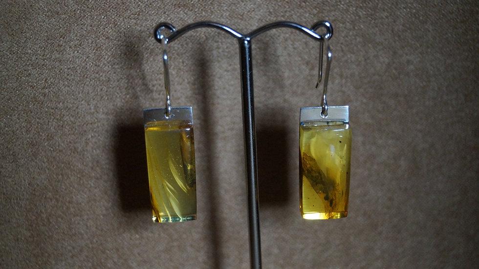 AmberModa Rectangle Drop Earrings A286