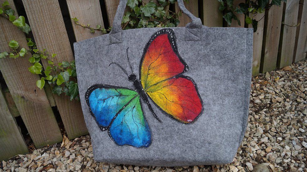 Medium Felt Butterfly Bag A260