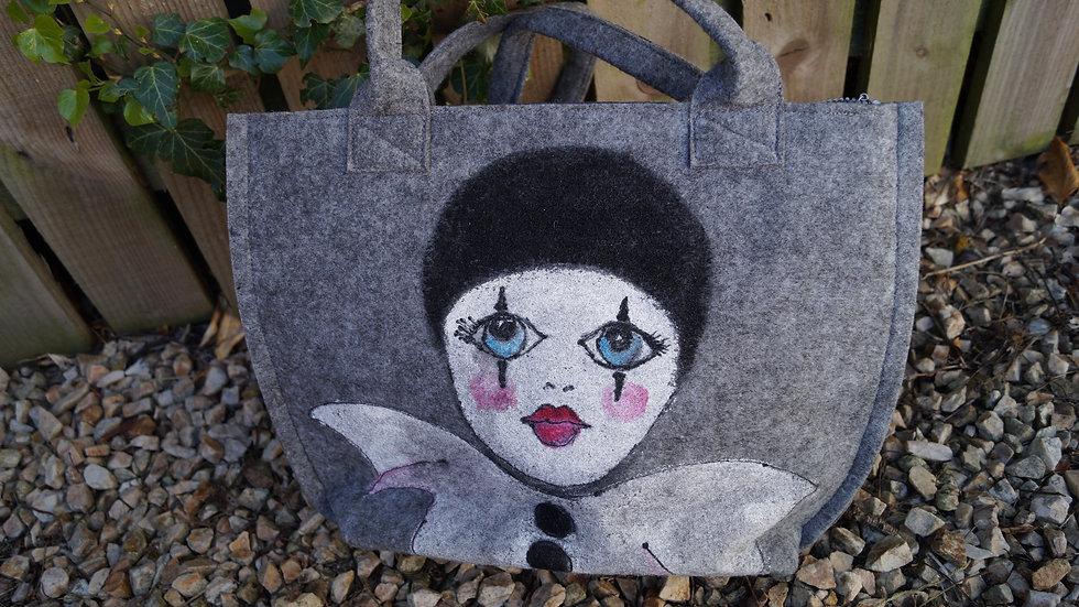 Small Felt Clown Bag (zipped) A265