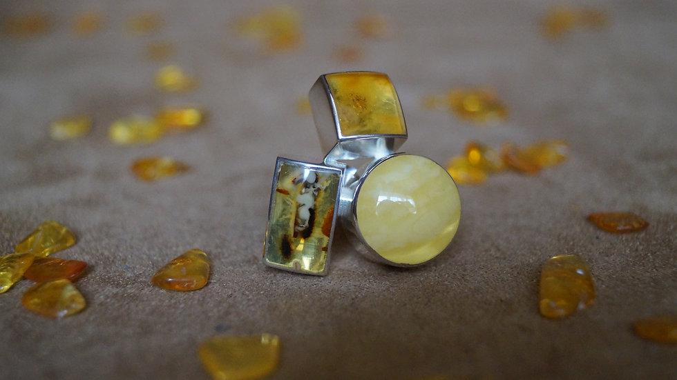 AmberModa Tri Colour Ring A322