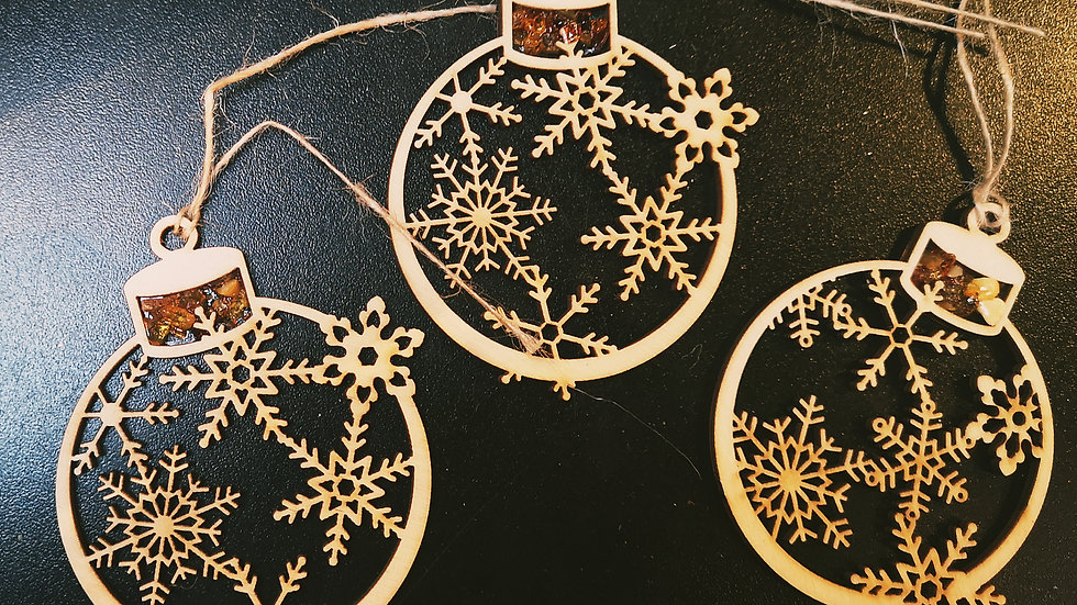 Limited Edition Set of 3 Christmas Baubles