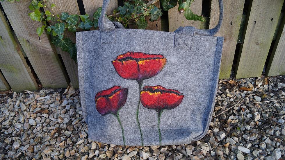 Small Felt Poppy Bag A268