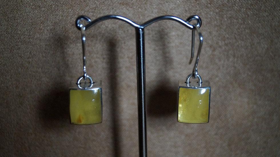 AmberModa Small Square Drop Earrings A291