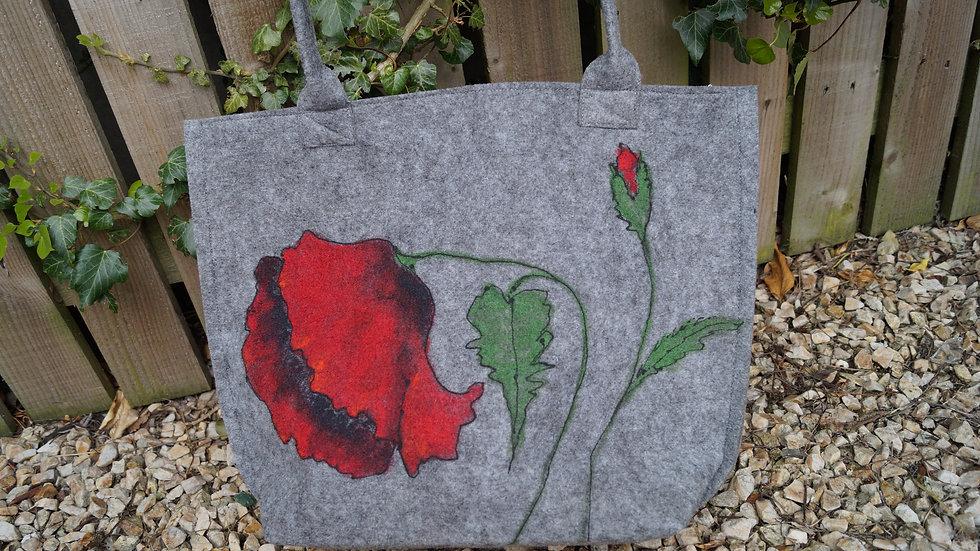 Medium Felt Poppy Bag (zipped) A257