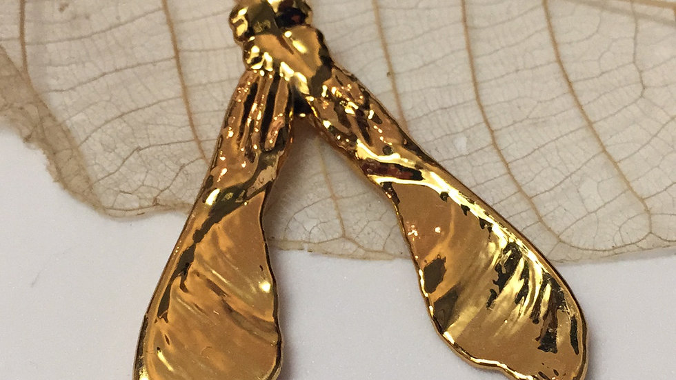 Forever Leaves 'SYCAMORE' necklace. GOLD A240