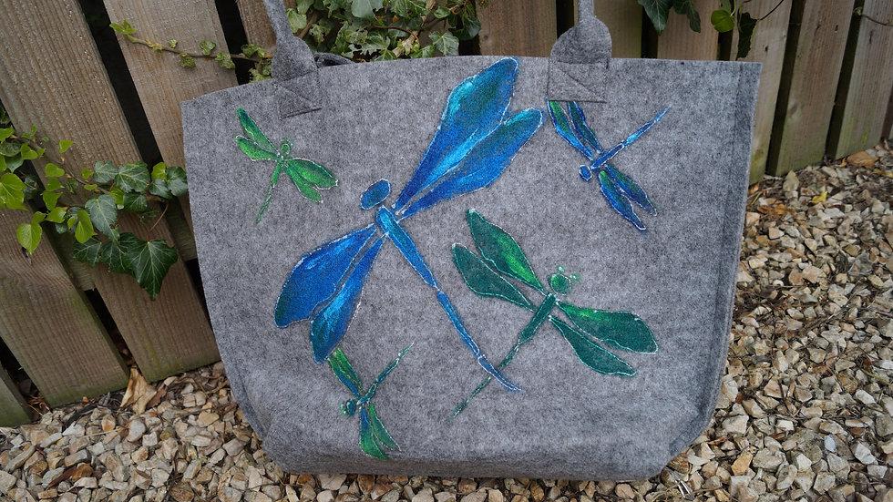 Medium Felt Dragonfly Bag A254