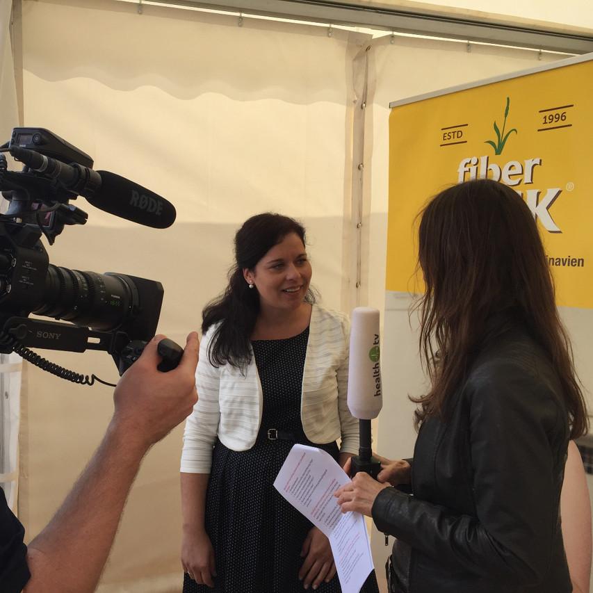 Tanja wird von Health TV interviewt