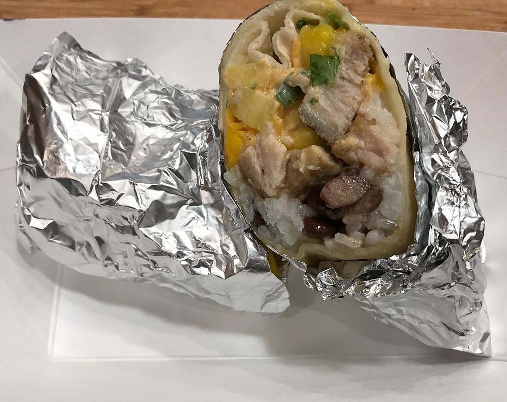 The finished burrito
