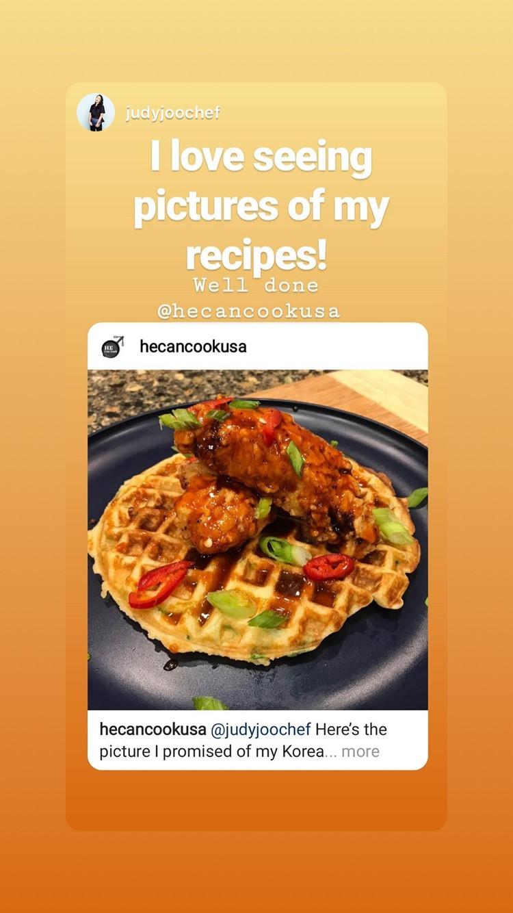 Judy Joo Liked My Dish
