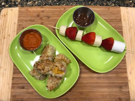 Cooking Challenge Week 2: Mac 'n Cheese Stuffed Pork Fingers with Fondue Dessert