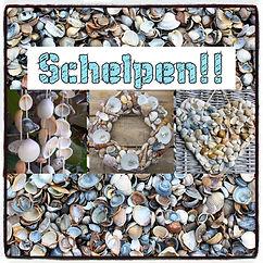 Schelpen Wandhanger of Schelpenkrans (nieuw!)
