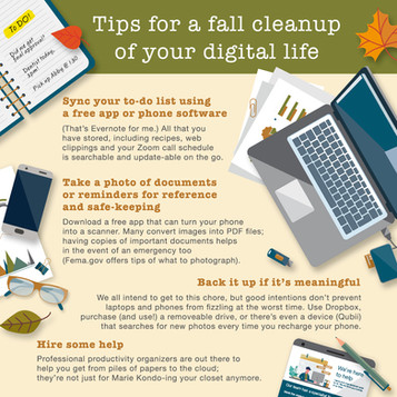 Tips for a fall cleanup of your digital life