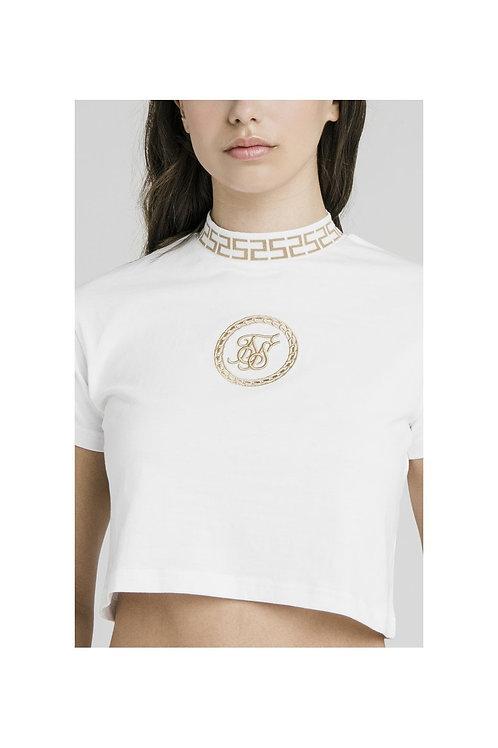 SikSilk  Luxury Crop Camiseta - Blanco