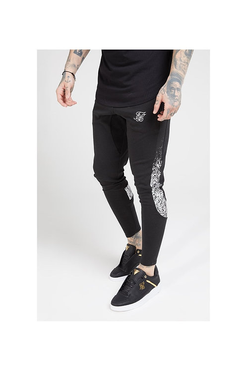SikSilk   Athlete Tech Fade Track Pants – Black & Silver
