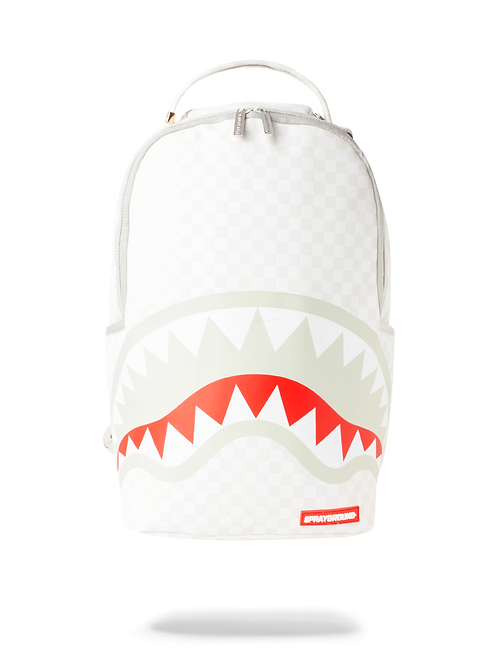 Checkered Shark Backpack inWHITE, FERRARI