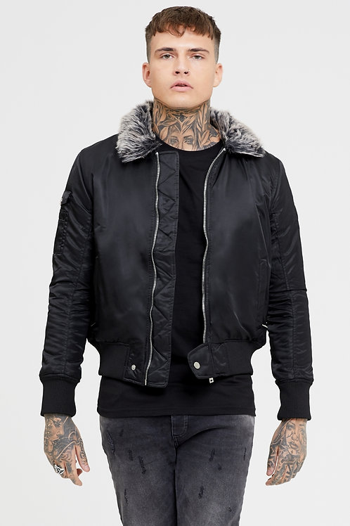 GOOD FOR NOTHING MENS Flight Black Jacket