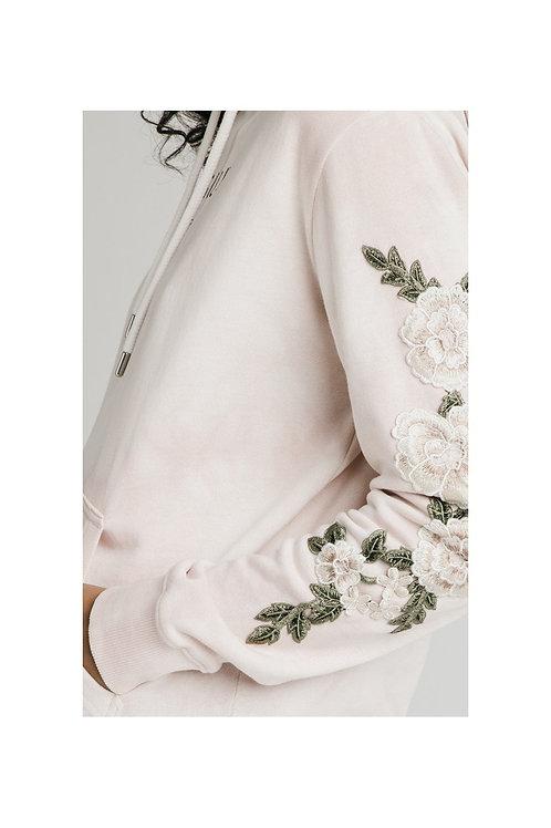 SikSilk  Tye-Dye Floral Overhead Hoodie - Pink