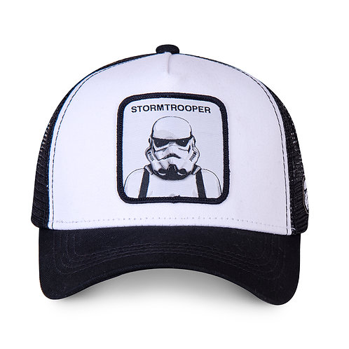 GORRA CAPSLAB STAR WARS STORMTROOPER, WHITE & BLACK