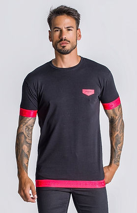 Black-Neon-Coral-Pink-Reaction-Elastic-T