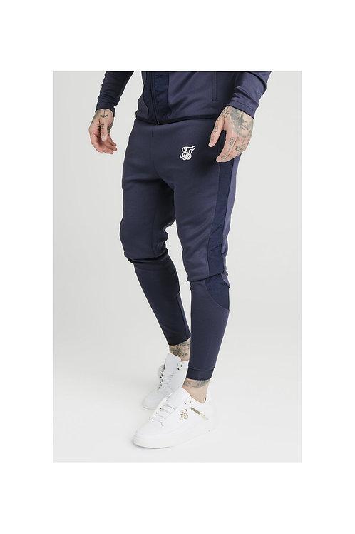SikSilk   Creased Nylon Pants - Navy