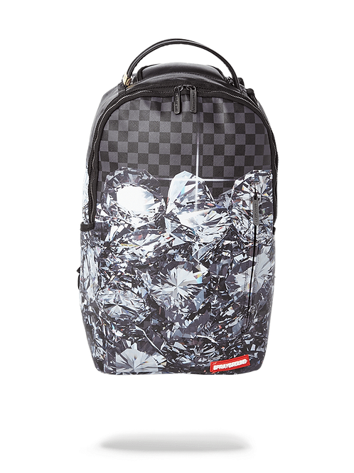 Checkered Shark Backpack in Black & Grey TOO MANY