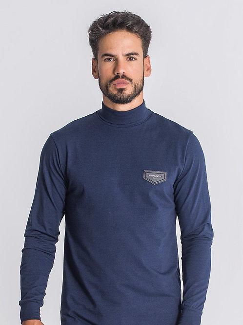 Navy Blue Core Turtleneck Long Sleeve Tee