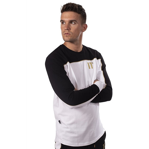 Ghost Long Sleeve T-Shirt - Black/White/Gold