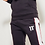 Thumbnail: Carbon Panel Joggers Skinny Fit - Black / Brick Red / White