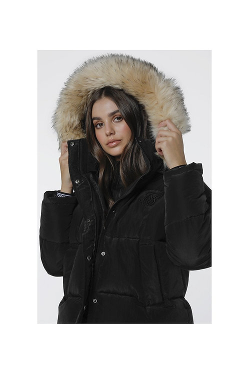 SikSilk  Short Parka Jacket - Black