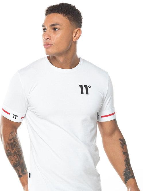 Taped Ringer T-Shirt - White