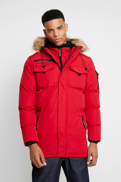 GOOD FOR NOTHING MENS Storm Red Double Layered Parka