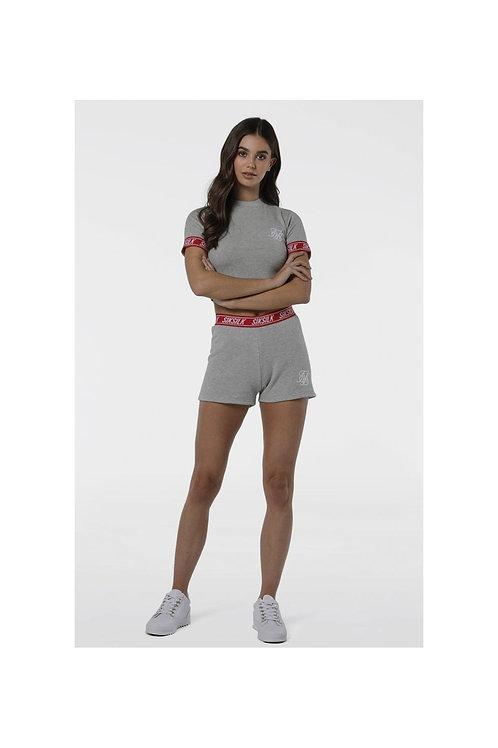 SikSilk  Gym Shorts - Grey Marl