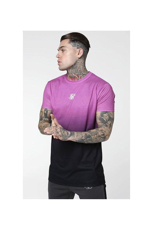SikSilk  S/S Reverse Collar Box Tee - Black & Pink