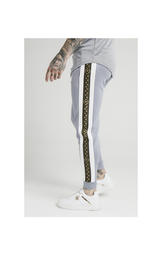 c22c4042fcc98 SikSilk Panelled Racer Cuffed Joggers – Grey