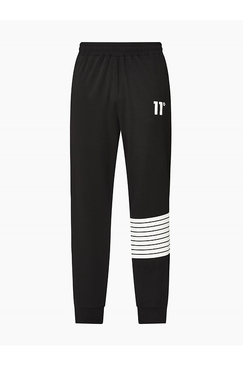 Printed Stripe Joggers Skinny Fit - Black