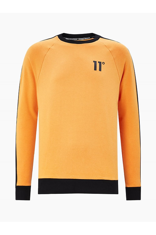 Taped Ringer Sweatshirt - Blaze Orange