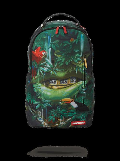 Checkered Shark Backpack in GREEN MAMA