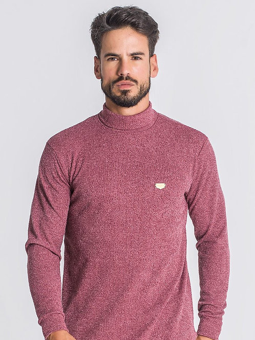 Smoky Pink Core Turtleneck Medal Sweater