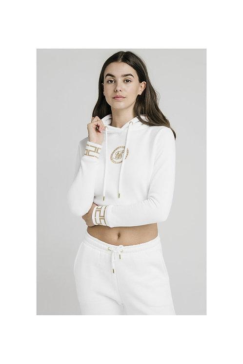 SikSilk  Luxury Cropped Sudadera - Blanco