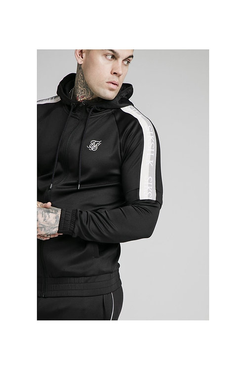 SikSilk  Zip Through Hoodie Detachable Sleeves - Black