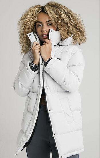 siksilk-longline-padded-jacket-light-gre