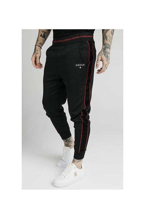 SikSilk  Pantalon Jogger Detalle Banda Lateral - Negro