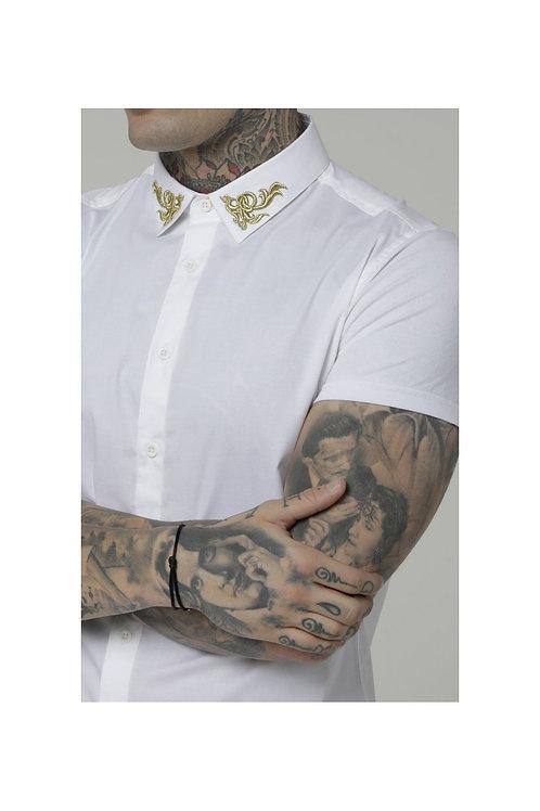 SikSilk  S/S Venetian Shirt - White