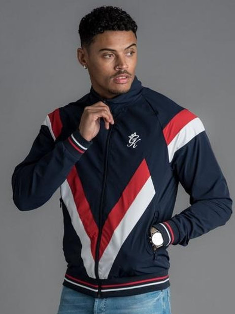 GK SOBERS FUNNEL NECK TRACKSUIT TOP- NAVY NIGHTS