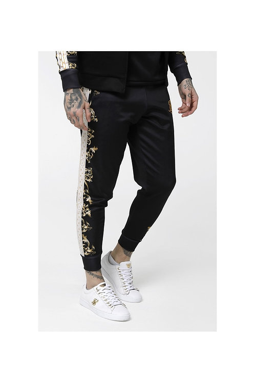 SikSilk  Black Edition Polly Cuffed Pants - Black, White & Gold