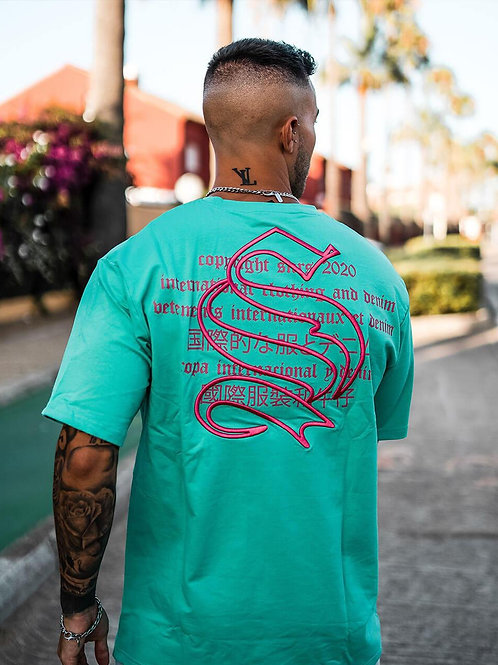 GLOBAL DROP SHOULDER TEE - MINT