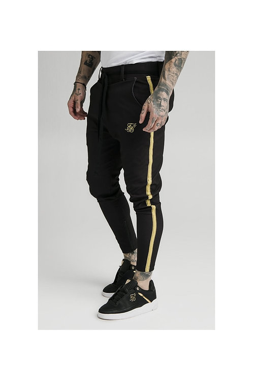 SikSilk  Fitted Smart Tape Jogger Pant - Black