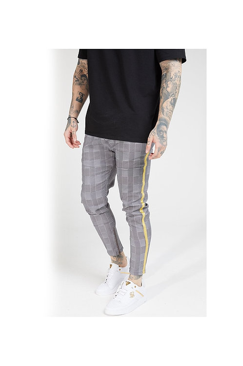 SikSilk  Fitted Smart Tape Jogger Pant - Dogtooth Check